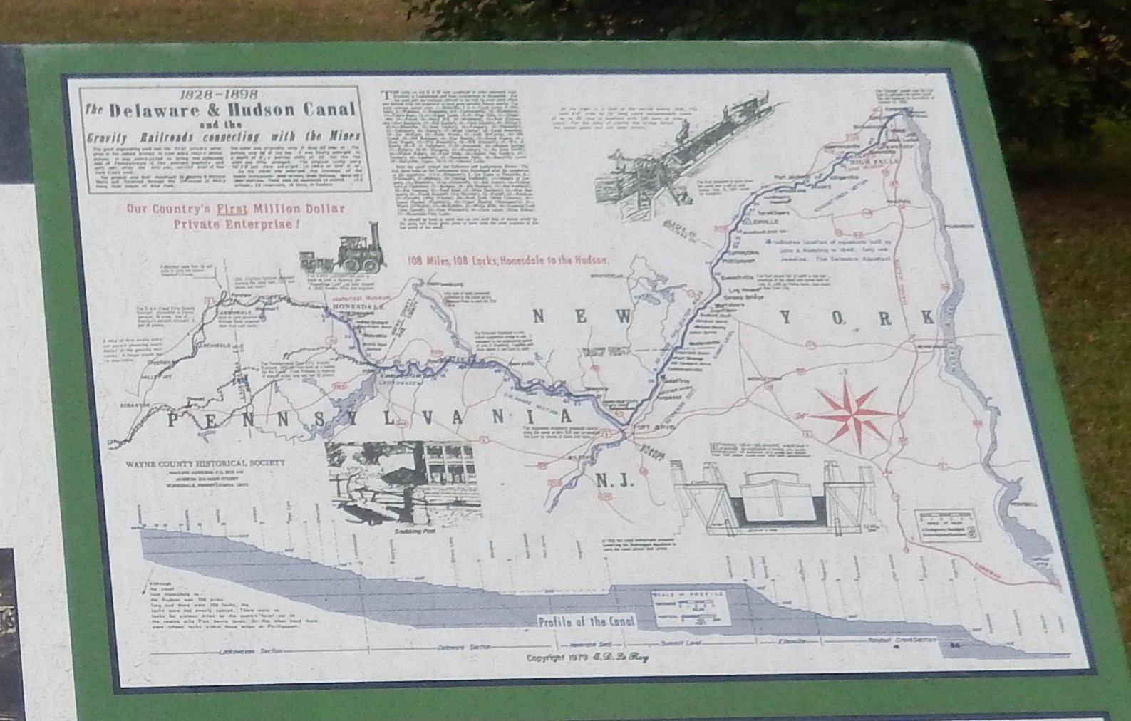 History of Hawley Marker-Map upper right