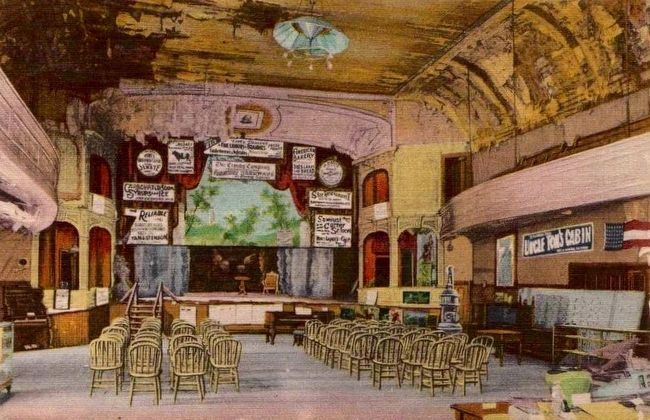 Hand-tinted Postcard View of the Interior of Piper's Opera House image. Click for full size.
