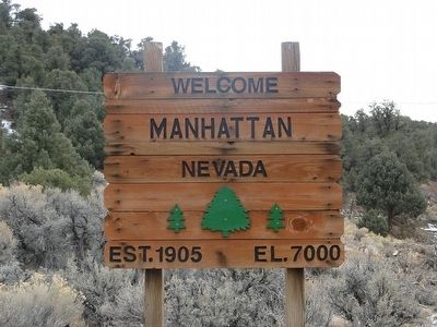 Welcome To Manhattan Nevada image. Click for full size.