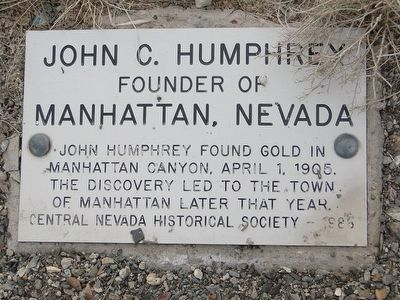 John C. Humphrey Marker image. Click for full size.