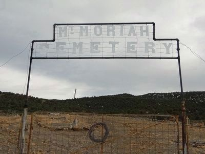 Mt. Moriah Cemetery, Manhattan, Nevada. image. Click for full size.