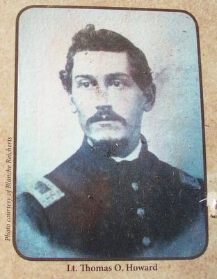 Lt. Thomas O. Howard Photo on Clear Lake in the Civil War Marker image. Click for full size.