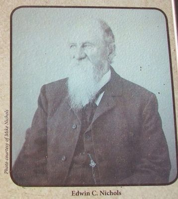 Edwin C. Nichols Photo on Clear Lake in the Civil War Marker image. Click for full size.