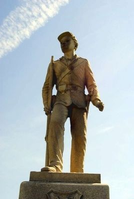 51st Pennsylvania Volunteer Infantry Monument<br>Statue of Infantryman image. Click for full size.