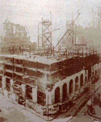 Construction of the Equitable Building, 1893 image. Click for full size.