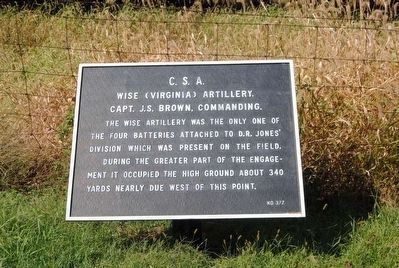 Wise (Virginia) Artillery Marker image. Click for full size.