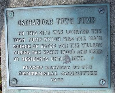 Ostrander Town Pump Marker image. Click for full size.