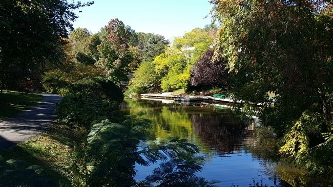 Waterway at Lake Anne Village, Reston, Virginia image. Click for full size.