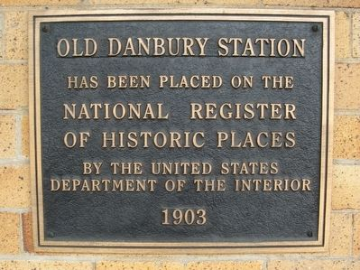 Old Danbury Station Marker image. Click for full size.