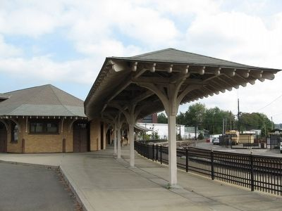 Old Danbury Station Platform image. Click for full size.