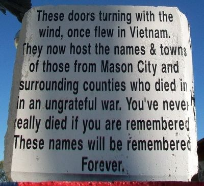 Vietnam War Memorial Marker image. Click for full size.