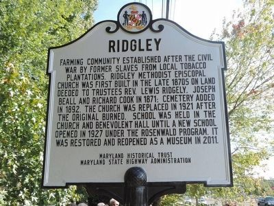Ridgley Marker image. Click for full size.
