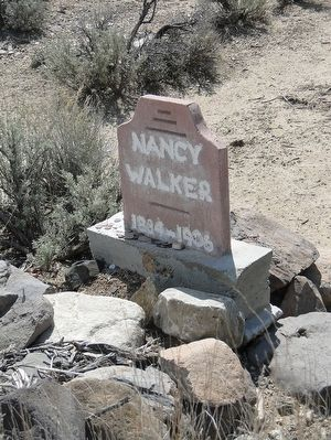 Gravesite of Nancy Walker 1884-1906. This is the only known grave here. image. Click for full size.