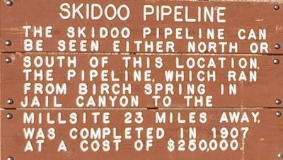 Skidoo Pipeline Marker image. Click for full size.