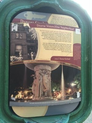 The first houses south and west of Dupont Circle Marker image. Click for full size.