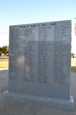 Rising Star Area Veterans Memorial image. Click for full size.