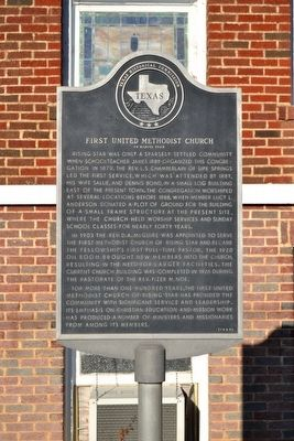 First United Methodist Church of Rising Star Marker image. Click for full size.
