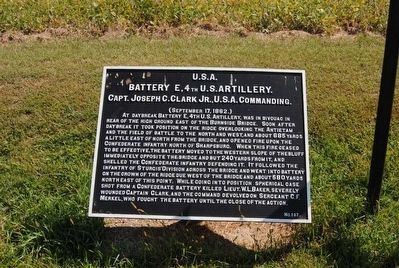 Battery E, 4th U.S. Artillery Marker image. Click for full size.