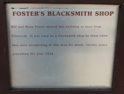 Foster's Blacksmith Shop Marker image. Click for full size.