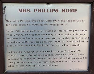 Mrs. Phillips Home Marker image. Click for full size.