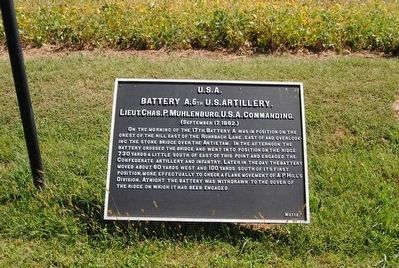 Battery A, 5th U.S. Artillery Marker image. Click for full size.