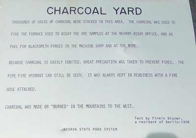 Charcoal Yard Marker image. Click for full size.
