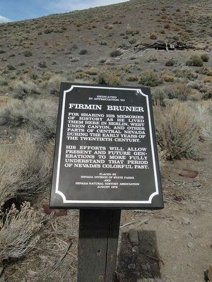 Firmin Bruner Marker image. Click for full size.