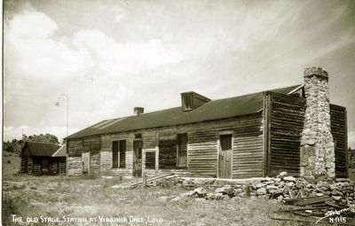 The Old Stage Station at Virginia Dale, Colo. image. Click for full size.