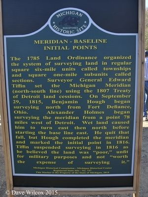 Meridan - Baseline Intial Points Marker side 1 image. Click for full size.