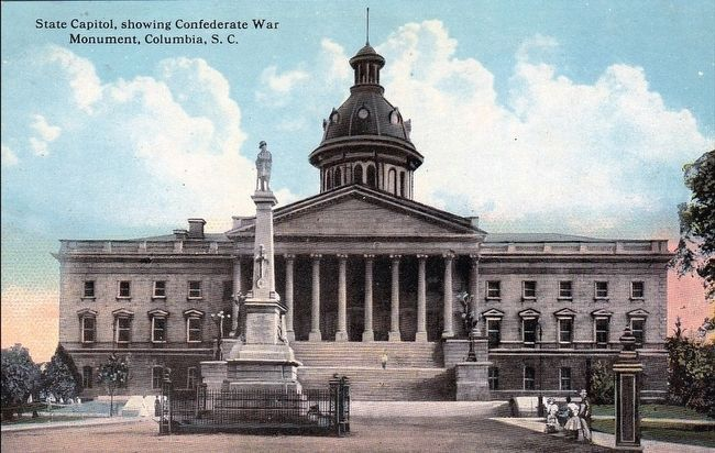 <i>State Capitol, Showing Confederate War Monument, Columbia, S.C.</i> image. Click for full size.