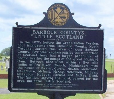 "Barbour County's ""Little Scotland"" Marker image. Click for full size."