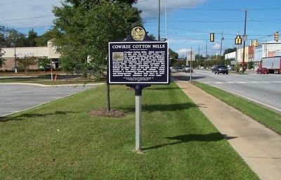 Cowikee Cotton Mills Marker image. Click for full size.