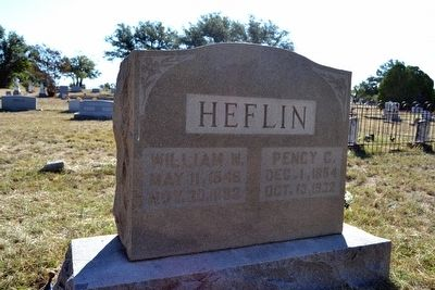 Headstone of Graves of William and Pency Heflin image. Click for full size.