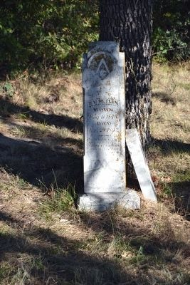 Original Headstone of Grave of William Heflin image. Click for full size.