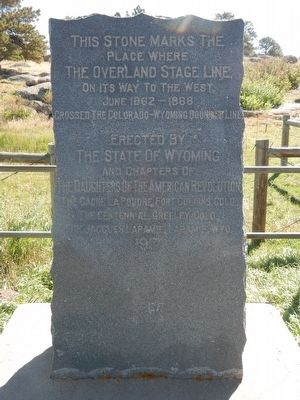The Overland Stage Line Marker image. Click for full size.
