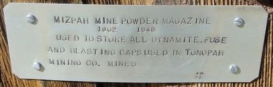 Mizpah Mine Powder Magazine Marker image. Click for full size.