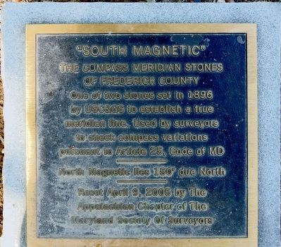 """South Magnetic"" Marker image. Click for full size."