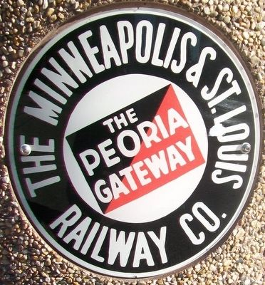 The Minneapolis & St. Louis Railway Emblem image. Click for full size.