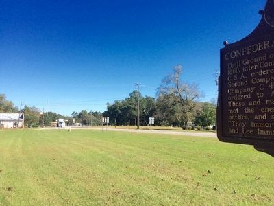 View of marker looking east on U.S. Highway 82. image. Click for full size.