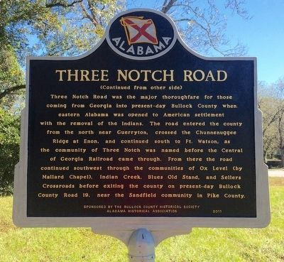 Three Notch Road Marker (Side 2) image. Click for full size.