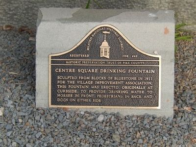 Centre Square Drinking Fountain Marker image. Click for full size.