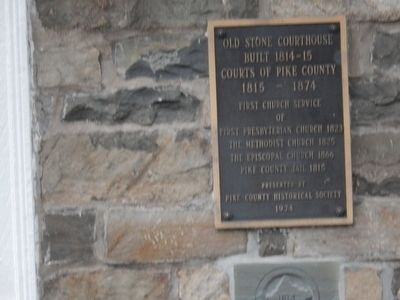 Old Stone Courthouse Marker image. Click for full size.