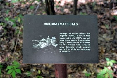 Building Materials Interpretive Sign image. Click for full size.