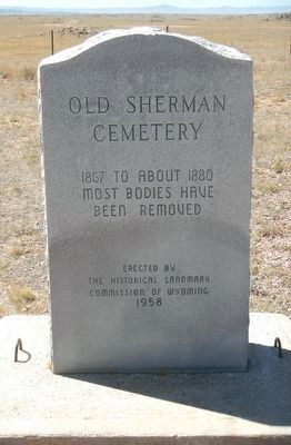 Old Sherman Cemetery Marker image. Click for full size.