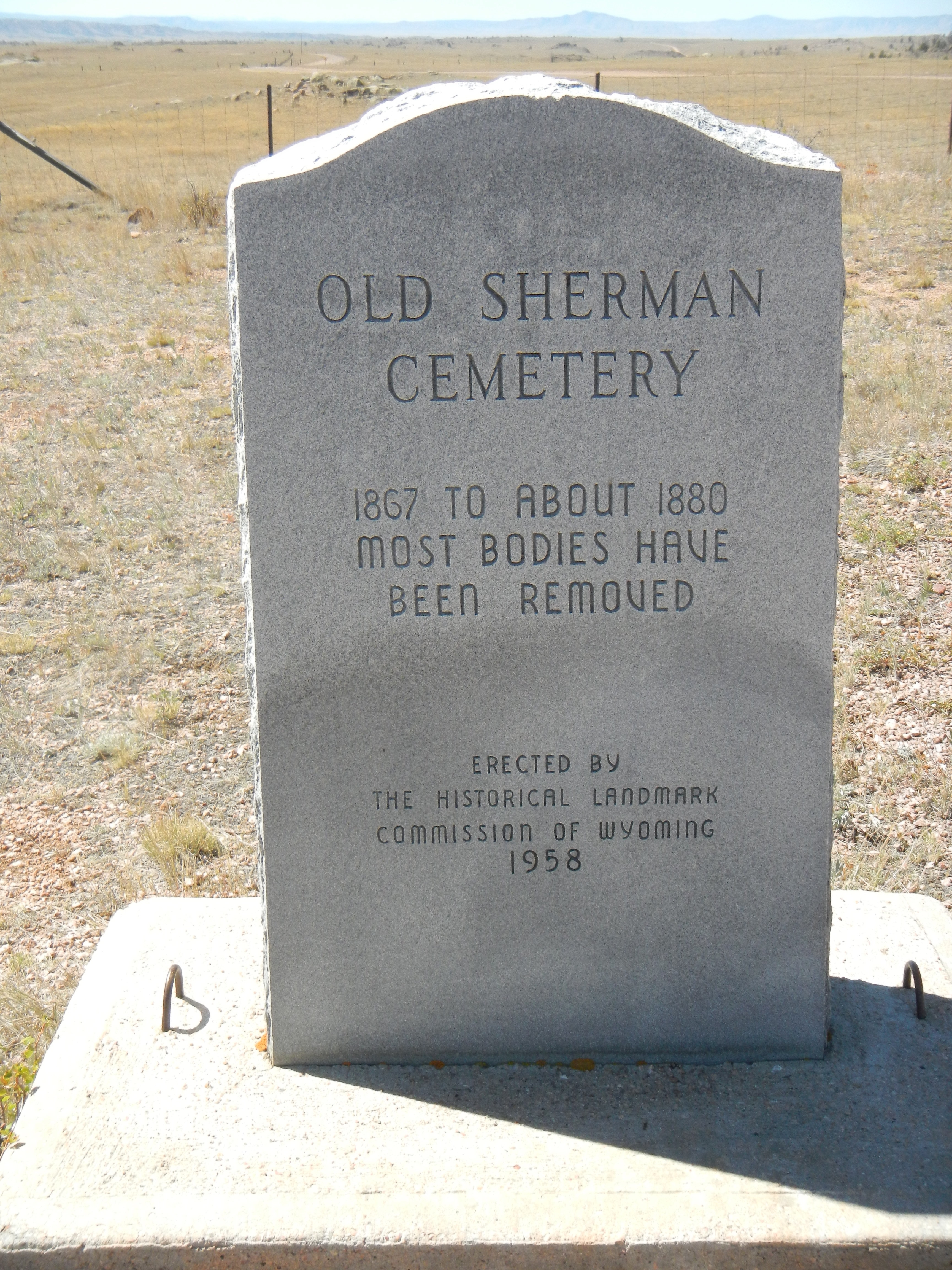 Old Sherman Cemetery Marker