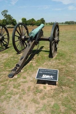 Model 1841 6-Pounder Gun and Marker image. Click for full size.
