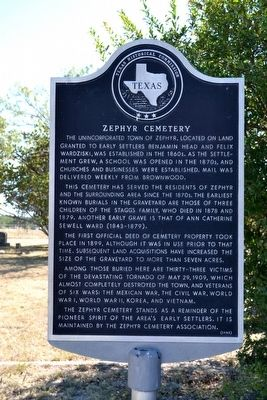Zephyr Cemetery Marker image. Click for full size.