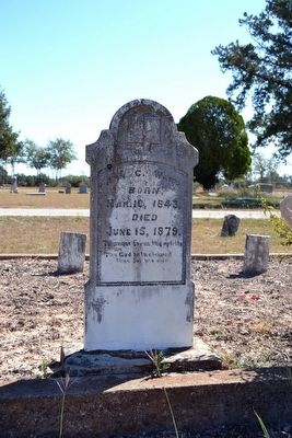 Headstone of Grave of Ann Catherine Sewell Ward image. Click for full size.