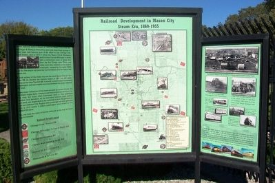 Railroad Development in Mason City Marker image. Click for full size.
