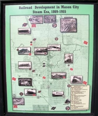 Railroad Development in Mason City Marker Center Panel Detail image. Click for full size.